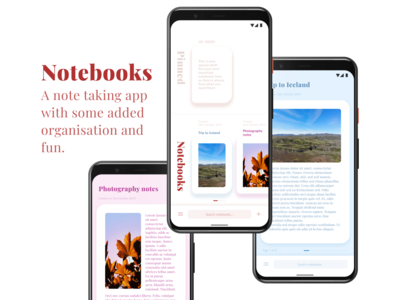 Notebooks - A Concept Note Taking App