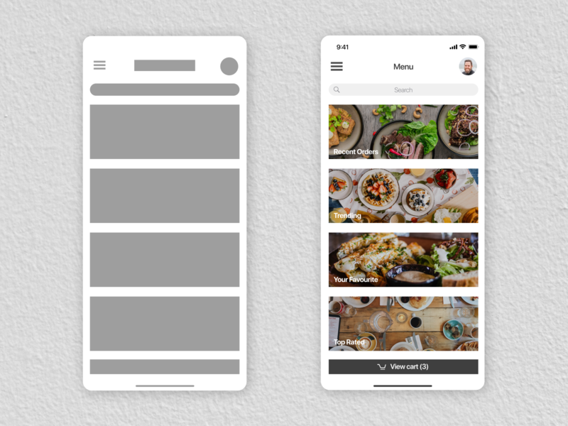 Food Menu - Delivery App Mockup