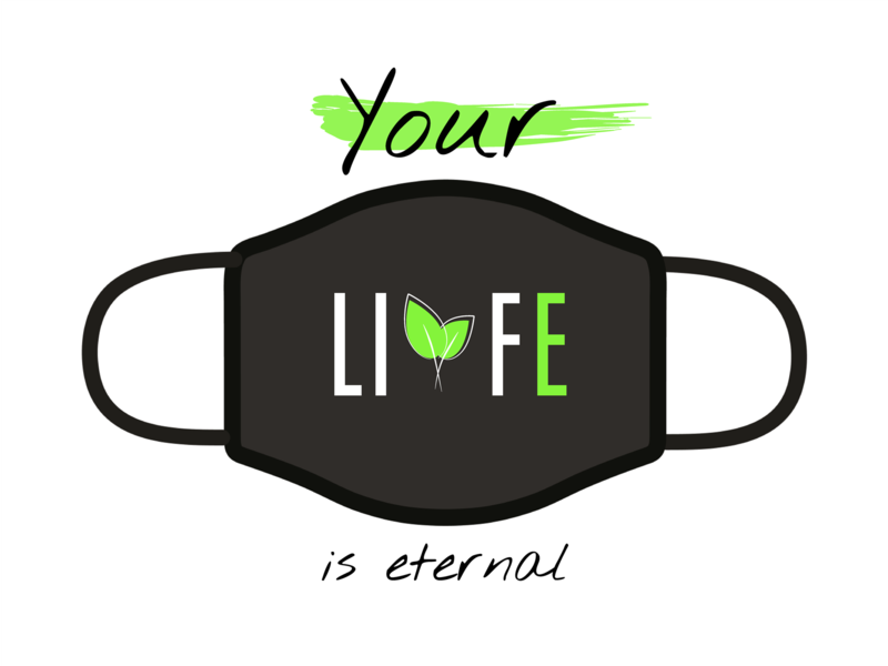 Design For Good Face Mask (Life) new design logo leafs leaf green mask challenge dribbble illustrator illustration