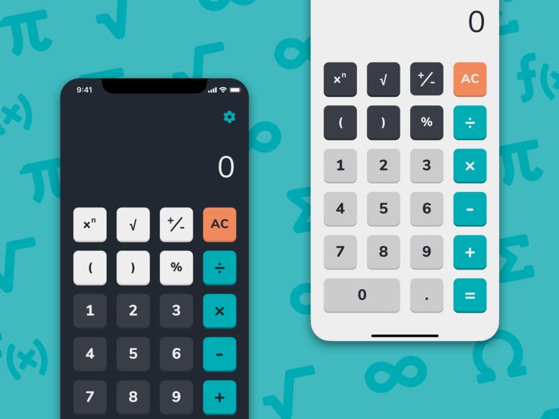 Daily UI - Day 04: Calculator ui design