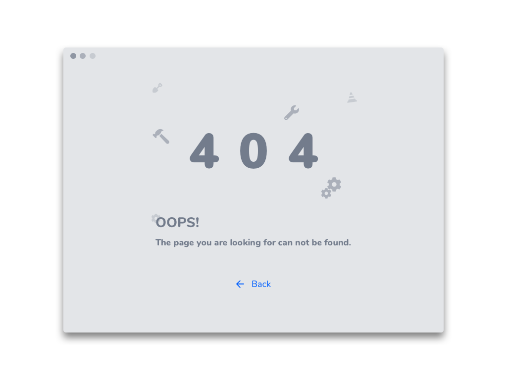 #DailyUI - Day 08: 404 Page design ui