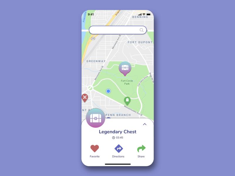 #DailyUI - Day 20: Location Tracker ui design