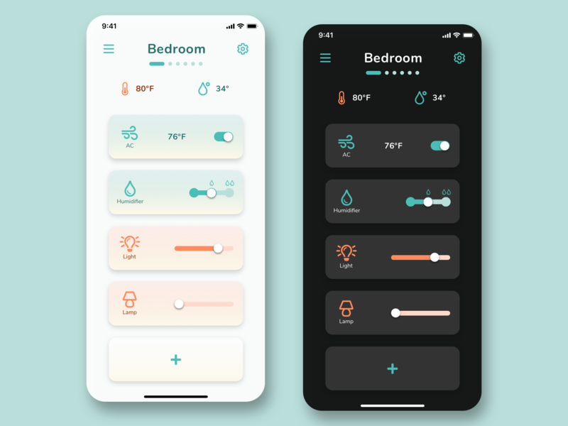 #DailyUI - Day 21: Home Monitoring Dashboard ui design