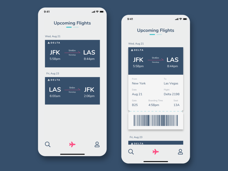 #DailyUI - Day 24: Boarding Pass ui design