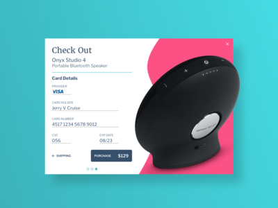 Daily UI Day 002 - Credit Card Check Out