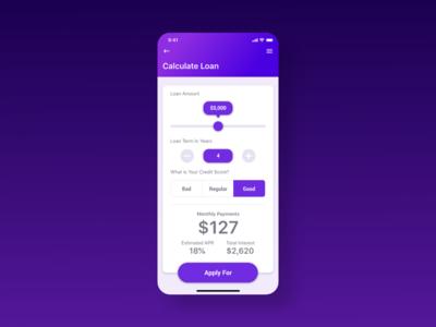 Daily UI Day 004 - Loan Calculator