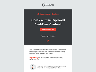 New features email design