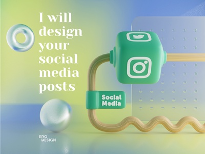 Social Media blender3d twitter instagram social media concept branding design 3d art graphic design
