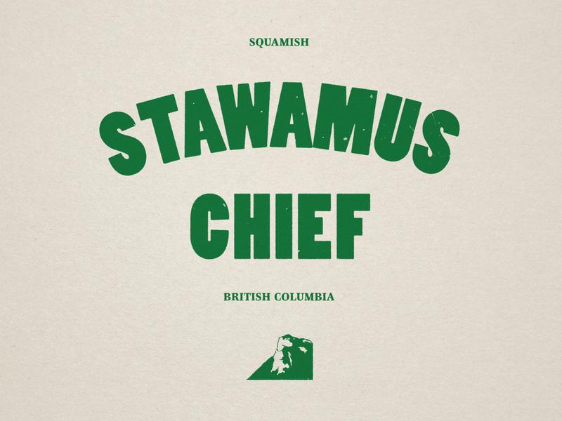 Stawamus Chief british columbia squamish stawamus the chief nature type graphic design illustration canada