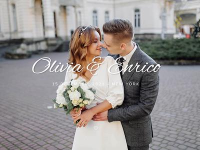Olivia & Enrico - Wedding Template corporate personal portfolio clean agency modern creative wedding design wedding cards wedding invite wedding events wedding