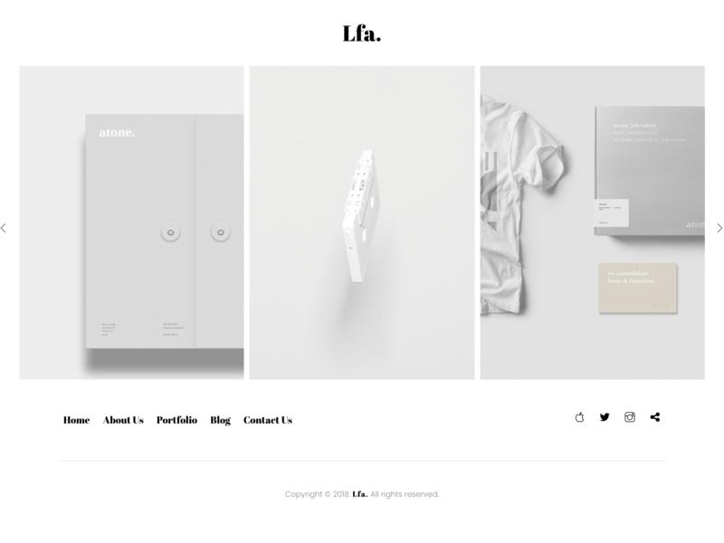 Lfa. - Creative & Minimal HTML5 Template portfolio personal website personal minimalist minimal masonry isotope individual grid creative agency creative clean agency