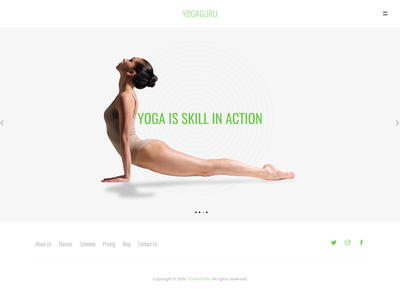 YOGAGURU — Health Beauty & Yoga Responsive Template yoga responsive template yoga training sport spa parallax modern meditation landing health gym fitness creative corporate