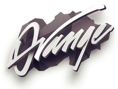 Orange label orange typography calligraphy font type logo lettering