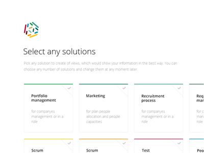 Start Screen webdesign minimal ux ui landing clean kanban scam agile targetprocess