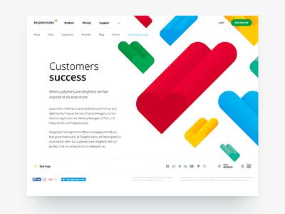 Customers Success clean hurts scrum targetprocess agile webdesign landing
