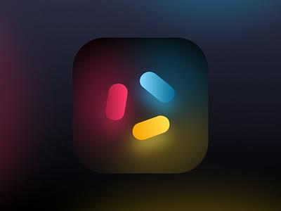 Tau Conf 2018 colors ios mobile neon app icon