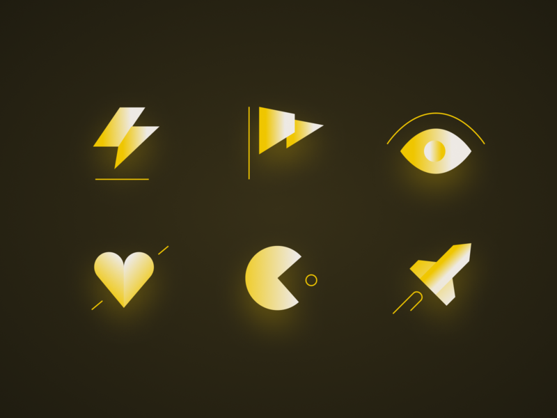 Icons rocket pac man eyed light heart gradient targetprocess icon