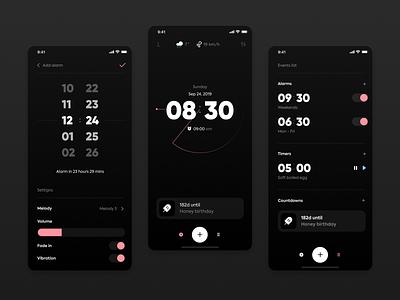 Clock alarm clock ux ui ios app
