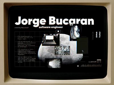 Personal ms dos brutalism ui website personal website web