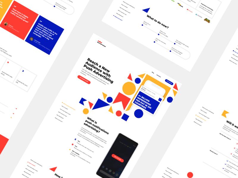 Cube colors clean design ui landing webdesign