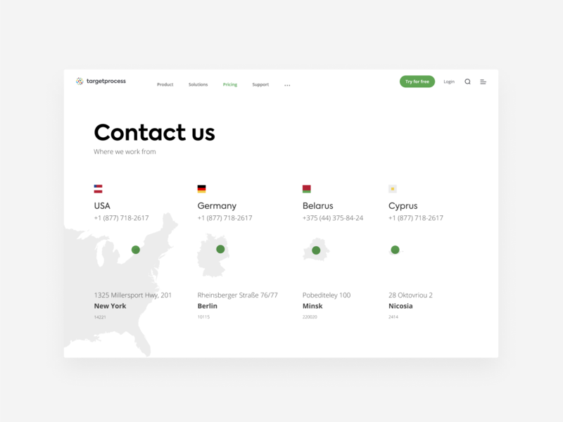 Contact us clean map minimalism contact us web