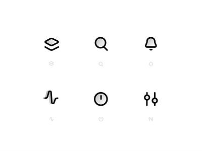 Simple glyphs icons design