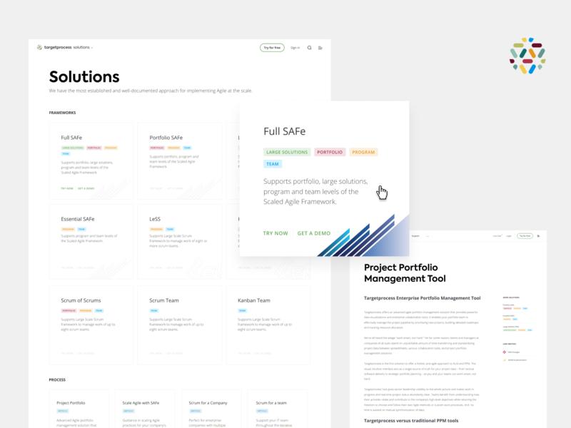 Solutions ux kanban clean website targetprocess web agile ui