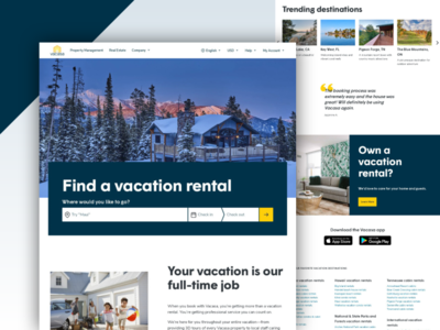 Vacasa Website Homepage Design