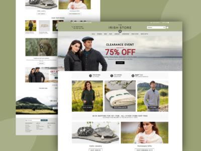The Irish Store website design