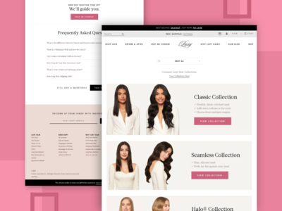 Luxy Hair Ecommerce Website Design