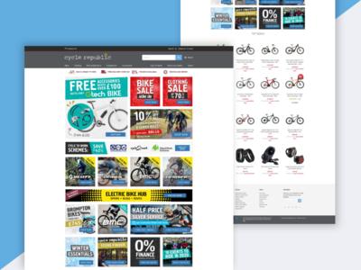 Cycle Republic Website Design