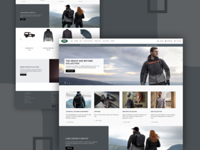 Land Rover Website UI/UX Designing