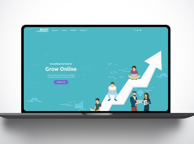 Unlocked growth webste landing page