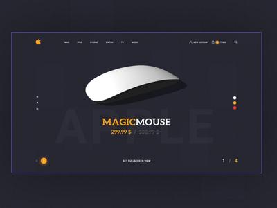 MagicMouse Landing page design