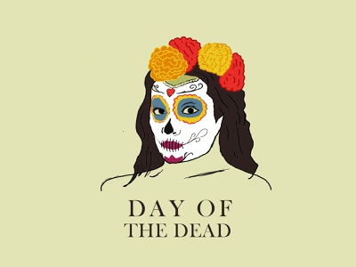 Day of the Dead, is a celebration of life and death illustration ilutrator day of the dead mexico city mexico mexicanart día de los muertos illustration design