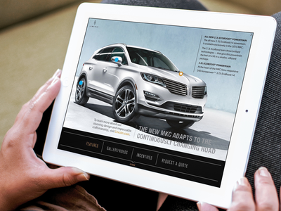 2015 Lincoln MKC: Rich-Media Tablet Ad Experience