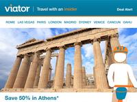 Viator's Flash Sale Email Templates