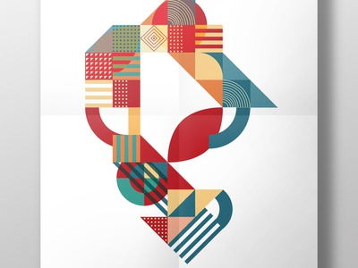 poster NIKOLAAS letters 01 art typography illustration graphic design