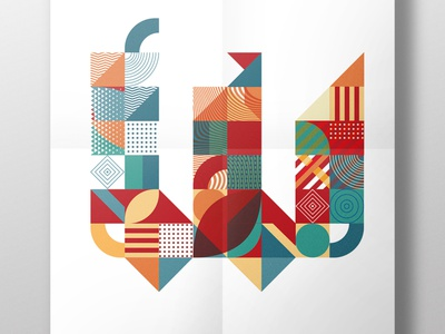 poster NIKOLAAS letters 14 typography illustration graphic design