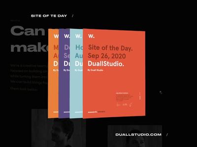 SOTD for Duallstudio.com awwwards sotd animation interface interaction duall web design website design ux ui web portugal typography