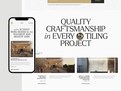 Specialist Ceramics awwwards type homepage architecture premium ceramic tiling webflow web ux ui