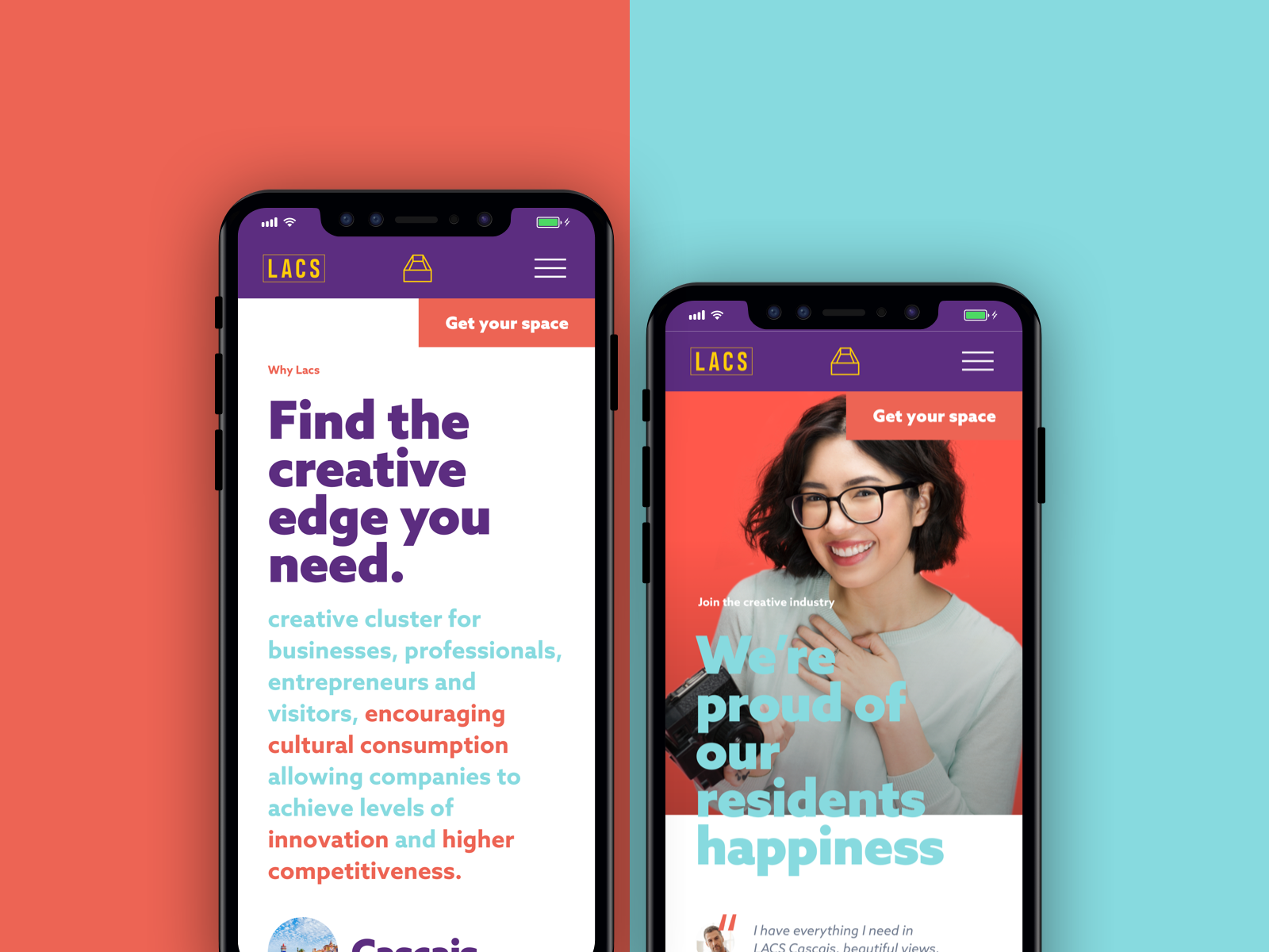 Dribbble lacs mobile