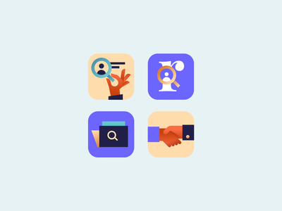 reWork App Icons work icon artwork warm purple minimal illustration vector appstore store ios duall ui clean icon icons app