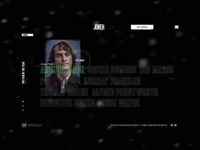 Joker Movie UI Animation