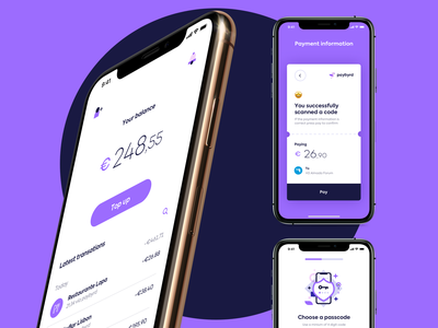 Paybyrd Mobile App clear simple iphone android ios portugal duall finance app illustration web ux minimalistic design ui