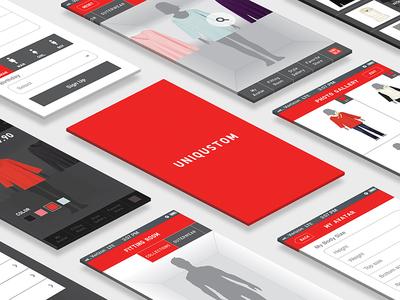 UNIQUSTOM Interface Design