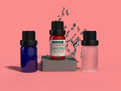 3d Product Design for Oil Bottle product design 3d illustration graphic design branding creative design