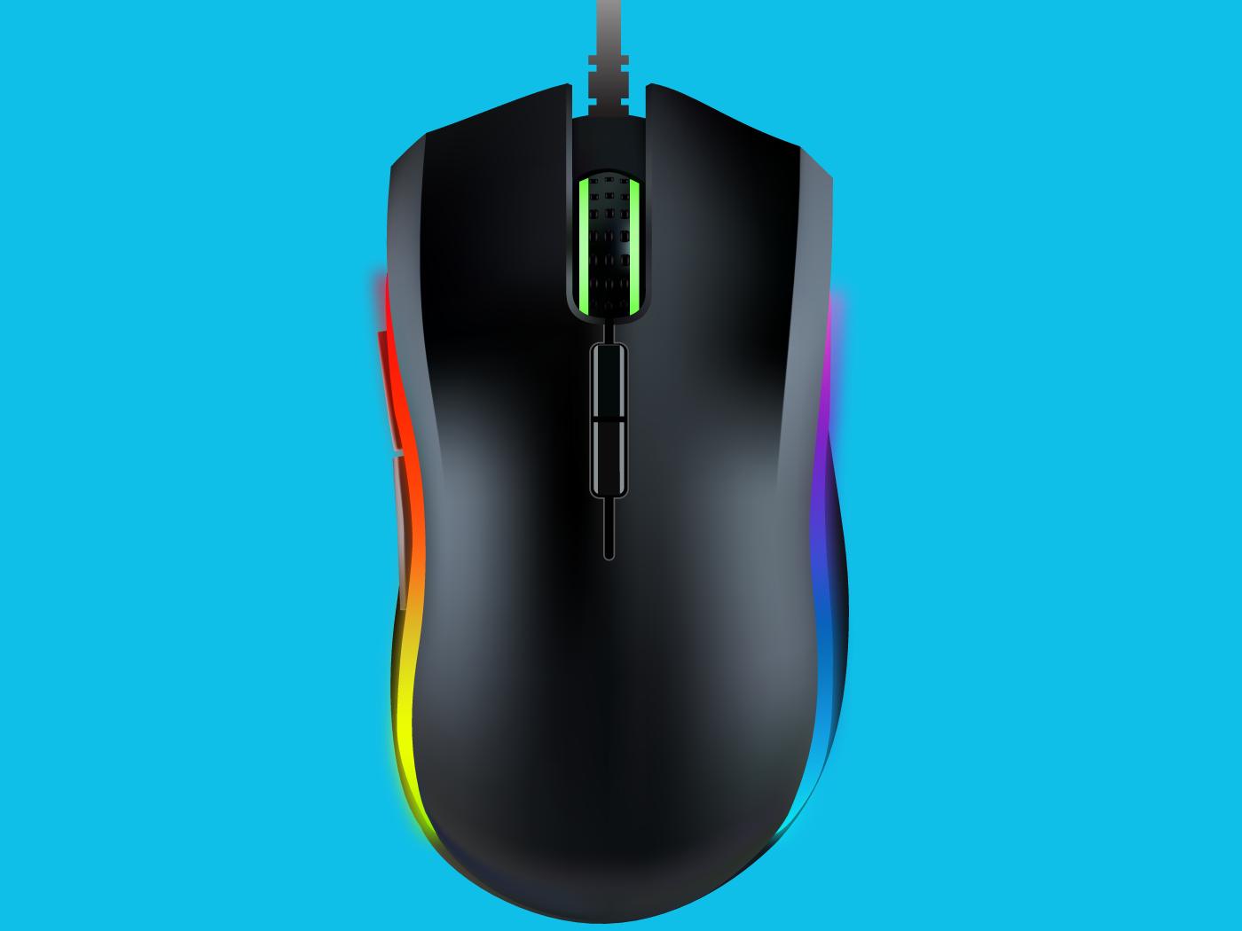 Razer Mouse Design product design vector illustration