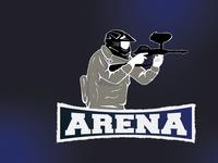 Mascot Logo For Paintball Arena