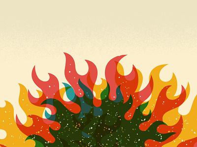 Campfire minimal flat texture illustration design vector flames flame campfire fire art illustrator